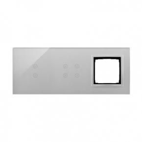 Panele-dotykowe - panel dotykowy potrójny z 1 otworem na osprzęt srebrna mgła dstr3340/71 simon 54 touch kontakt simon
