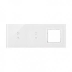 Panele-dotykowe - panel dotykowy 2+2 pola dotykowe pionowe+1 otwór na osprzęt biała perła dstr3330/70 simon 54 touch kontakt simon