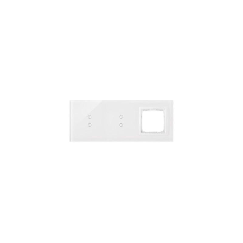 Panele-dotykowe - panel dotykowy 2+2 pola dotykowe pionowe+1 otwór na osprzęt biała perła dstr3330/70 simon 54 touch kontakt simon firmy Kontakt-Simon