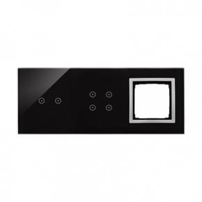 Panele-dotykowe - panel dotykowy potrójny z 1 otworem na osprzęt księżycowa lawa dstr3240/74 simon 54 touch kontakt simon
