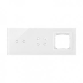 Panele-dotykowe - panel dotykowy 2 pola poziome+4 pola dotykowe+1 otwór na osprzęt biała perła dstr3240/70 simon 54 touch kontakt simon