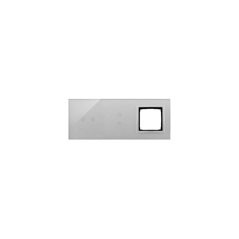 Panele-dotykowe - panel dotykowy 2 pola poziome + 2 pola pionowe+1 otwór na osprzęt srebrna mgła dstr3230/71 simon 54 touch kontakt simon firmy Kontakt-Simon