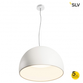 Biała wisząca lampa...