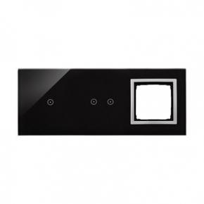Szklany panel dotykowy potrójny z otworem na osprzęt księżycowa lawa DSTR3120/74 Simon 54 Touch Kontakt Simon