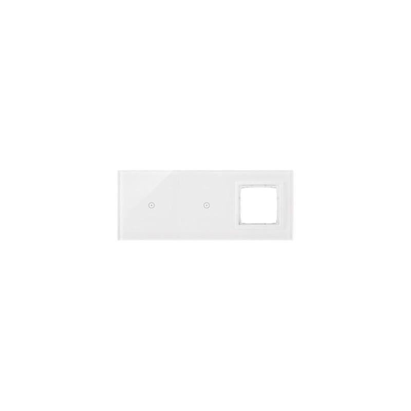 Panele-dotykowe - panel dotykowy potrójny z otworem na osprzęt biała perła dstr3110/70 simon 54 touch kontakt simon firmy Kontakt-Simon