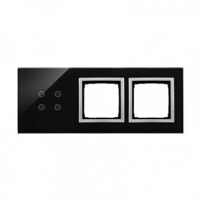 Panele-dotykowe - panel dotykowy 4 pola dotykowe+2 otwory na osprzęt księżycowa lawa dstr3400/74 simon 54 touch kontakt simon
