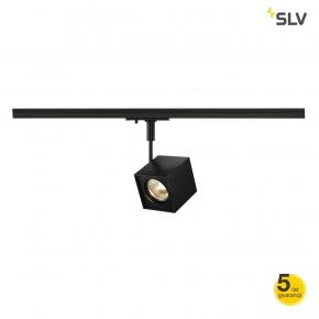 Oswietlenie-szynowe - czarny reflektor szynowy kwadrat altra dice spot gu10 max 50w adapter 1f spotline