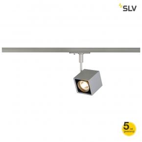 Oswietlenie-szynowe - kwadratowa oprawa szynowa altra dice spot kwadratowa srebrno-szary/czarna gu10  max 50w adapter 1f spotline