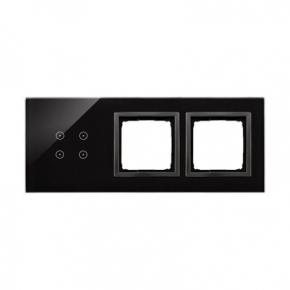 Panele-dotykowe - panel dotykowy 4 pola dotykowe+2 otwory na osprzęty zastygła lawa dstr3400/73 simon 54 touch kontakt simon