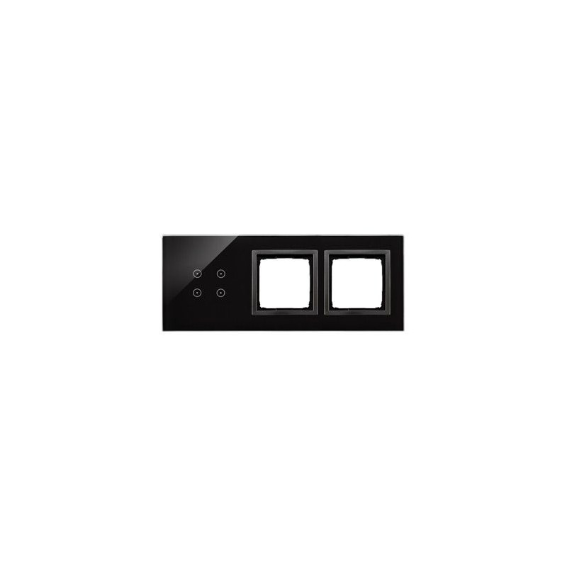 Panele-dotykowe - panel dotykowy 4 pola dotykowe+2 otwory na osprzęty zastygła lawa dstr3400/73 simon 54 touch kontakt simon firmy Kontakt-Simon
