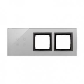 Panele-dotykowe - panel dotykowy 4 pola dotykowe+2 otwory na osprzęty burzowa chmura dstr3400/72 simon 54 touch kontakt simon
