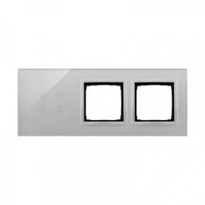Panele-dotykowe - panel dotykowy 4 pola dotykowe+2 otwory na osprzęty srebrna mgła dstr3400/71 simon 54 touch kontakt simon