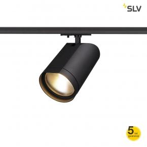 Oswietlenie-szynowe - czarna oprawa szynowa bilas led spot okrągła czarna  mat 15w 60°  2700k adapter 1f spotline