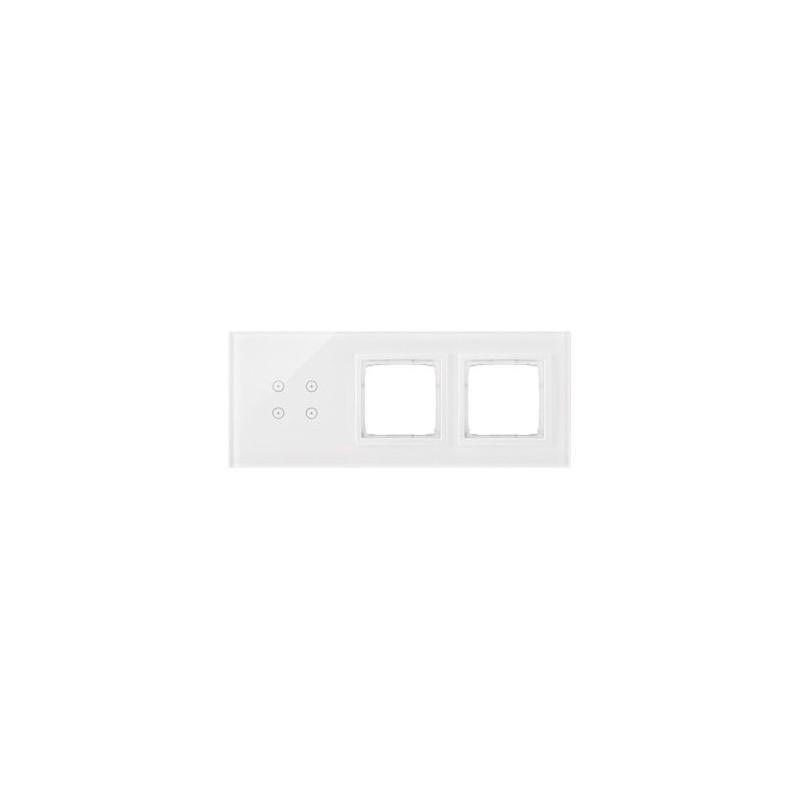Panele-dotykowe - panel dotykowy 4 pola dotykowe+2 otwory biała perła dstr3400/70 simon 54 touch kontakt simon firmy Kontakt-Simon