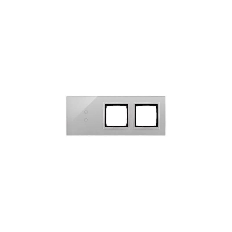 Panele-dotykowe - panel dotykowy 3-modułowy szklany srebrna mgła dstr3300/71 simon 54 touch kontakt-simon firmy Kontakt-Simon