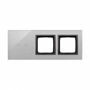 Panele-dotykowe - panel dotykowy 3-modułowy szklany burzowa chmura dstr3200/72 simon 54 touch kontakt simon