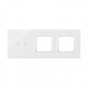 Panel dotykowy 2 pola dotykowe poziome+2 otwory na osprzęty biała perła DSTR3200/70 Simon 54 Touch Kontakt Simon