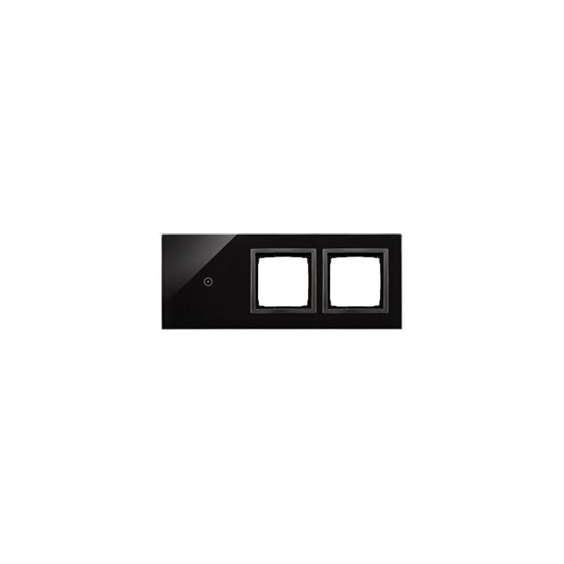 Panele-dotykowe - panel dotykowy 1 pole dotykowe+2 otwory na osprzęty zastygła lawa dstr3100/73 simon 54 touch kontakt-simon firmy Kontakt-Simon