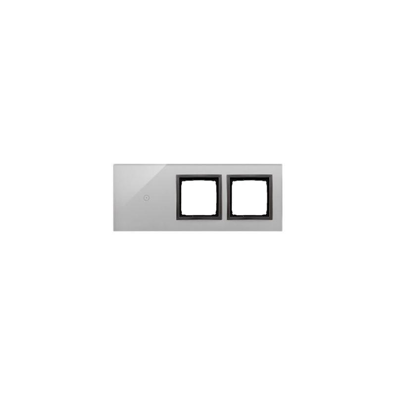 Panele-dotykowe - panel dotykowy 1 pole dotykowe+2 otwory na osprzęty burzowa chmura dstr3100/72 simon 54 touch kontakt simon firmy Kontakt-Simon
