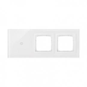 Panel dotykowy 1 pole dotykowe+2 otwory na osprzęty biała perła DSTR3100/70 Simon 54 Touch Kontakt Simon