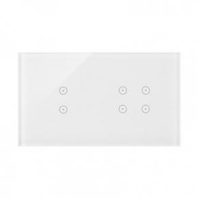 Panele-dotykowe - panel dotykowy 2 pola dotykowe pionowe+4 pola dotykowe biała perła simon 54 touch dstr234/70 kontakt simon