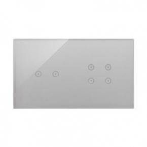 Panel dotykowy 2+4 pola dotykowe srebrna mgła DSTR224/71 Simon 54 Touch Kontakt Simon