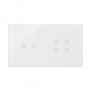 Panele-dotykowe - panel dotykowy 2+4 pola dotykowe biała perła dstr224/70 simon 54 touch kontakt simon