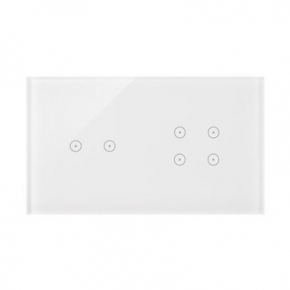 Panel dotykowy 2+4 pola dotykowe biała perła DSTR224/70 Simon 54 Touch Kontakt Simon