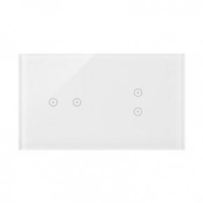 Panel dotykowy 2+2 pola dotykowe biała perła DSTR223/70 Simon 54 Touch Kontakt-Simon