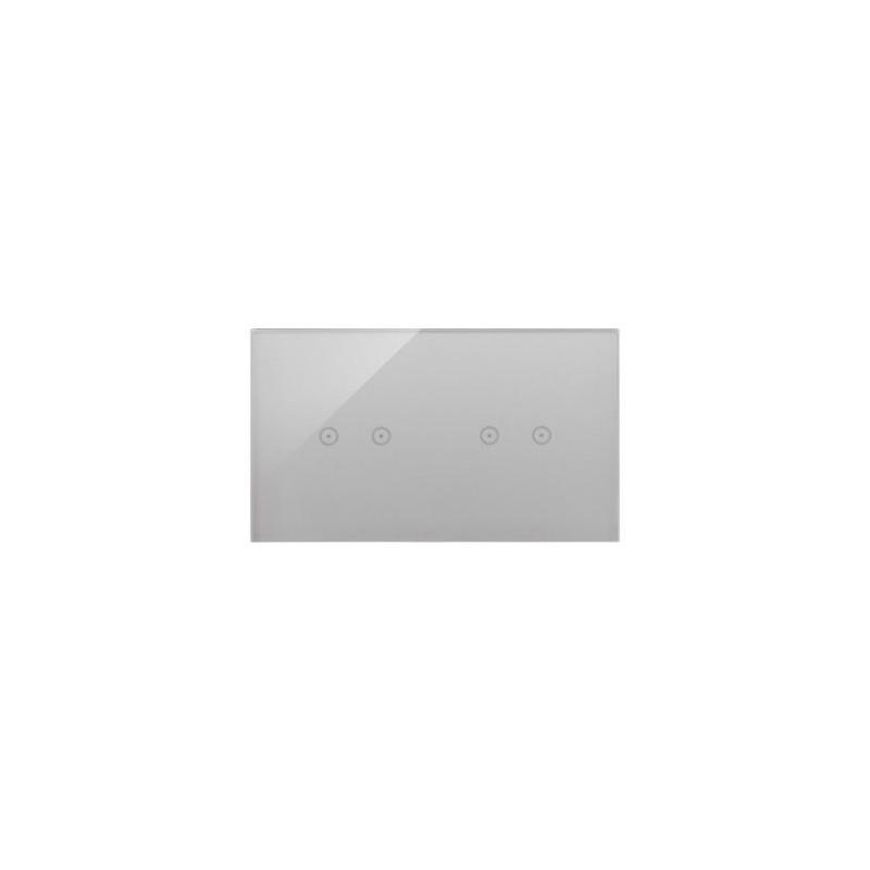 Panele-dotykowe - panel dotykowy 2+2 pola dotykowe poziome srebrna mgła dstr222/71 simon 54 touch kontakt simon firmy Kontakt-Simon