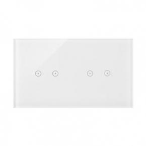 Panel dotykowy 2+2 pola dotykowe poziome biała perła DSTR222/70 Simon 54 Touch Kontakt-Simon