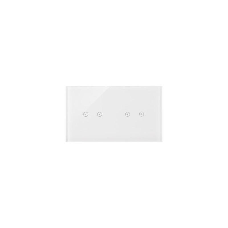 Panele-dotykowe - panel dotykowy 2+2 pola dotykowe poziome biała perła dstr222/70 simon 54 touch kontakt-simon firmy Kontakt-Simon
