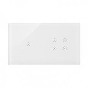 Panel dotykowy 1+4 pola dotykowe biała perła DSTR214/70 Simon 54 Touch Kontakt-Simon