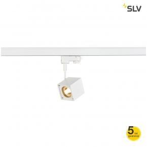 Oswietlenie-szynowe - reflektor szynowy biały kwadrat altra dice spot gu10 max 50w 3f adapter spotline