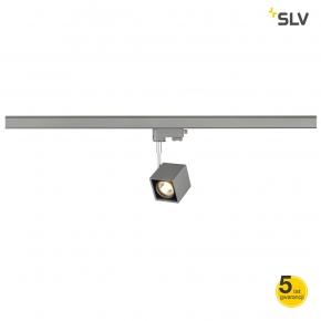 Oswietlenie-szynowe - szary reflektor szynowy do systemu 3f altra dice spot kwadratowa srebrno-szary/czarna gu10 max 50w adapter spotline