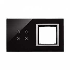 Panele-dotykowe - panel dotykowy 4 pola dotykowe+1 otwór na osprzęt księżycowa lawa dstr240/74 simon 54 touch kontakt-simon