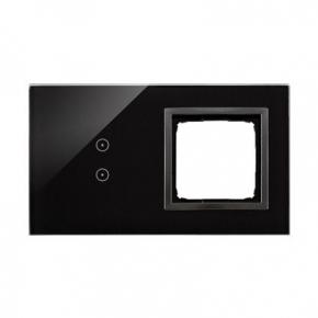 Panel dotykowy 2 pola dotykowe pionowe+otwór na osprzęt zastygła lawa DSTR230/73 Simon 54 Touch Kontakt-Simon