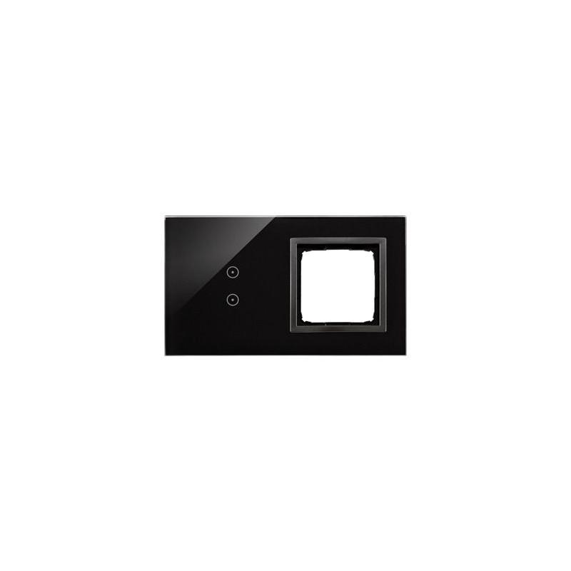 Panele-dotykowe - panel dotykowy 2 pola dotykowe pionowe+otwór na osprzęt zastygła lawa dstr230/73 simon 54 touch kontakt-simon firmy Kontakt-Simon