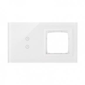 Panel dotykowy 2 pola dotykowe pionowe 1 otwór na osprzęt biała perła DSTR230/70 Simon 54 Touch Kontakt-Simon