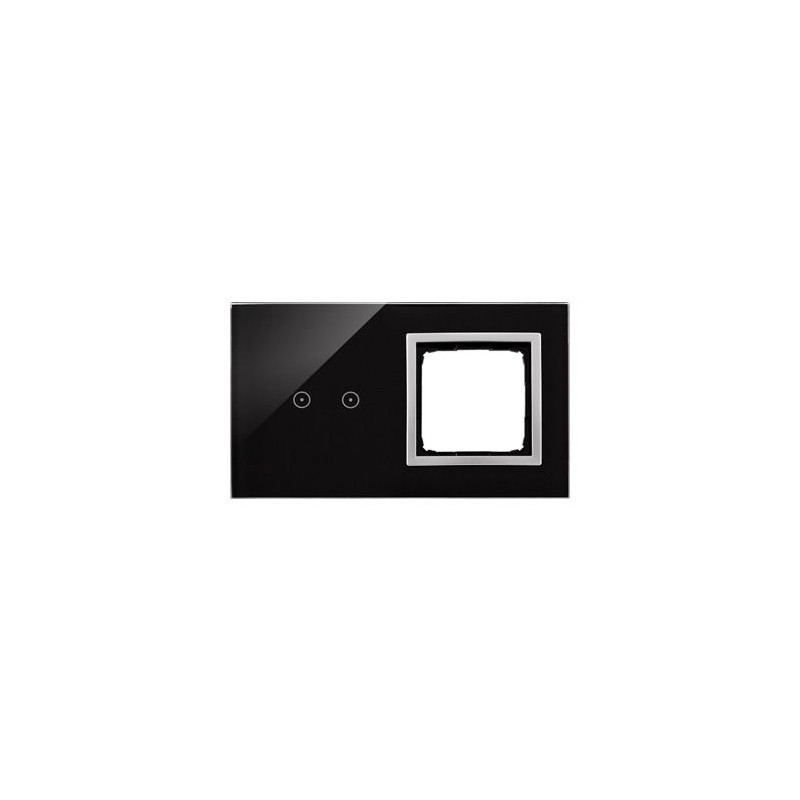 Panele-dotykowe - panel dotykowy 2 pola dotykowe+otwór na osprzęt księżycowa lawa dstr220/74 simon 54 touch kontakt-simon firmy Kontakt-Simon