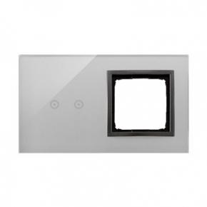 Panel dotykowy 2 moduły 2 pola dotykowe+otwór na osprzęt burzowa chmura DSTR220/72 Simon 54 Kontakt-Simon