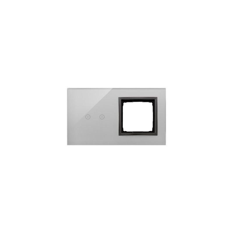 Panele-dotykowe - panel dotykowy 2 moduły 2 pola dotykowe+otwór na osprzęt burzowa chmura dstr220/72 simon 54 kontakt-simon firmy Kontakt-Simon