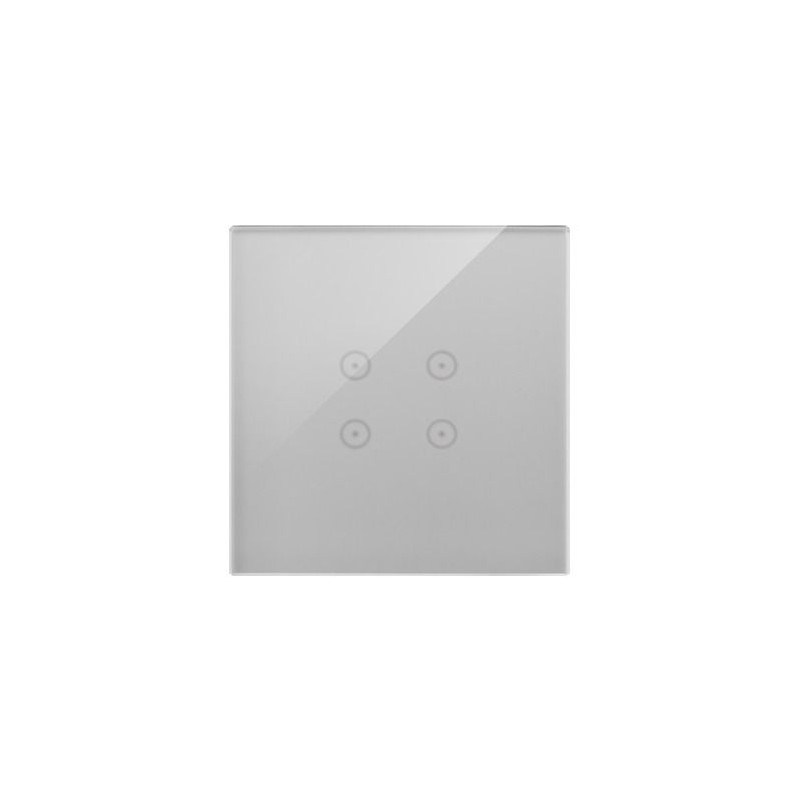 Panele-dotykowe - panel dotykowy 1 moduł 4 pola dotykowe srebrna mgła dstr14/71 simon 54 touch kontakt-simon firmy Kontakt-Simon