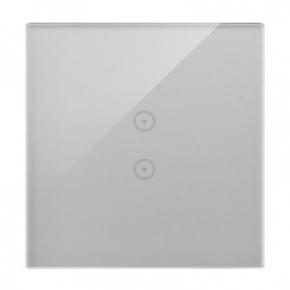 Panel dotykowy srebrna mgła 1 moduł 2 pola dotykowe pionowe DSTR13/71 Simon 54 Touch Kontakt-Simon