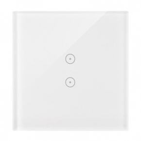 Panele-dotykowe - panel dotykowy biała perła 1 moduł 2 pola dotykowe pionowe dstr13/70 simon 54 touch kontakt-simon