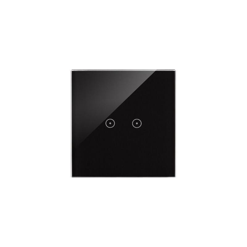 Panele-dotykowe - panel dotykowy zastygła lawa 1 moduł 2 pola dotykowe poziome dstr12/73 simon 54 touch kontakt-simon firmy Kontakt-Simon