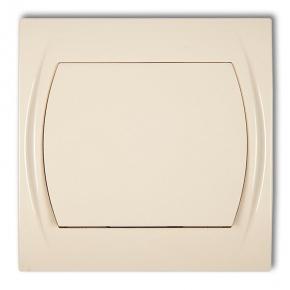 Wylaczniki-jednobiegunowe - włącznik jednobiegunowy beżowy 1lwp-1 logo karlik