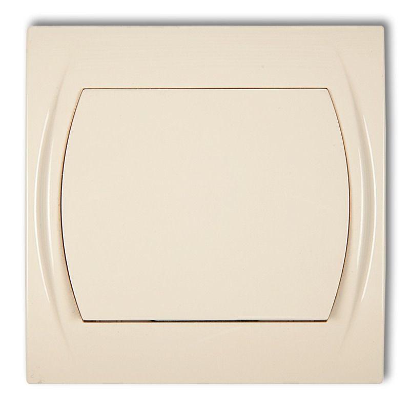 Wylaczniki-jednobiegunowe - włącznik jednobiegunowy beżowy 1lwp-1 logo karlik firmy Karlik