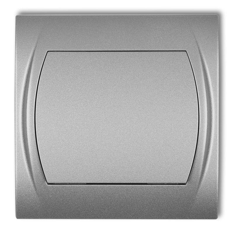 Wylaczniki-jednobiegunowe - wyłącznik jednobiegunowy z podświetleniem srebrny metalik 7lwp-1l logo karlik firmy Karlik