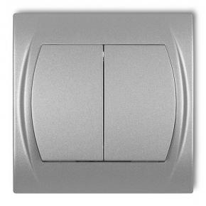Wylaczniki-podwojne - włącznik świecznikowy srebrny metalik 7lwp-2 logo karlik